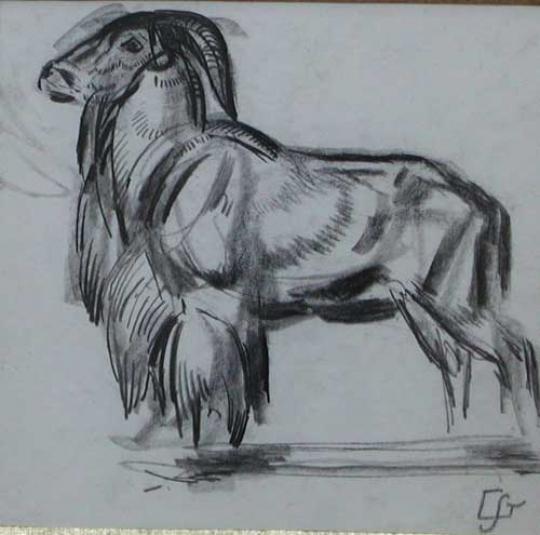 Gaston SUISSE (1896-1988) - Mouflon. Vers 1925.