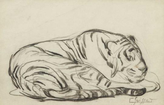 Gaston SUISSE (1896-1988) - Tigre couché.
