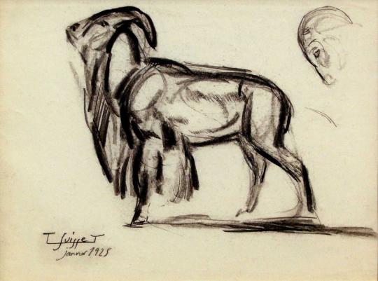 Gaston SUISSE (1896-1988) - Mouflon. 1925.