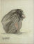 Gaston SUISSE (1896-1988) - Jeune gorille de profil. 1930.