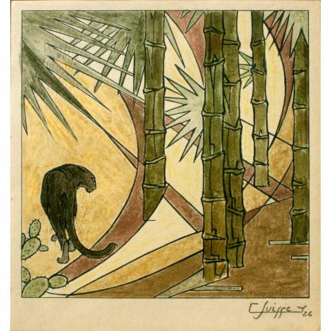 Panthère noire. 1926.