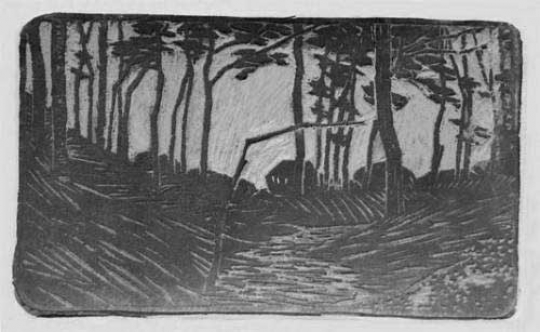 Gaston SUISSE (1896-1988) - Paysage de forêt.