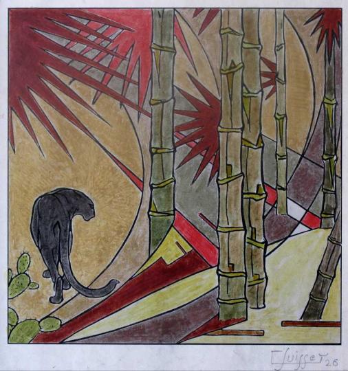Gaston SUISSE (1896-1988) - Panthère noire. 1926.