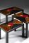 Gaston SUISSE (1896-1988) - Suite de trois tables gigognes en laque noire, circa 1936.