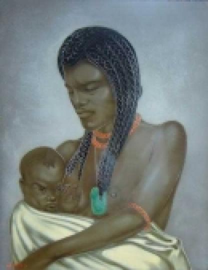 Gaston SUISSE (1896-1988) - Maternité.