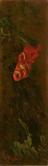 Gaston SUISSE (1896-1988) - Couple de poissons-clowns.