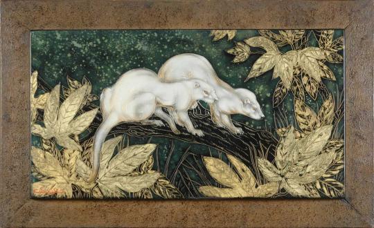 Gaston SUISSE (1896-1988) - Furets dans les feuillages. Vers 1935.