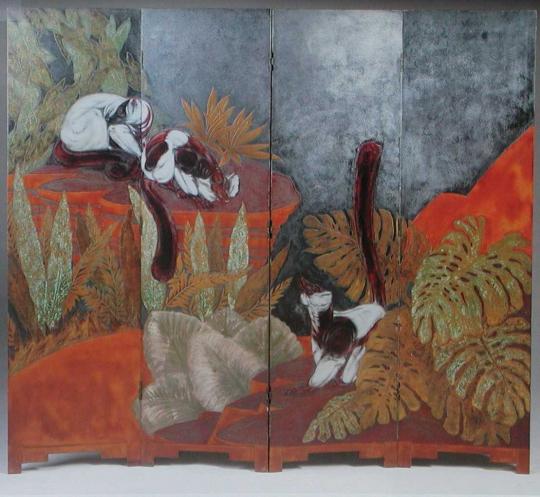 Gaston SUISSE (1896-1988) - Paravent Makis, vers 1935.