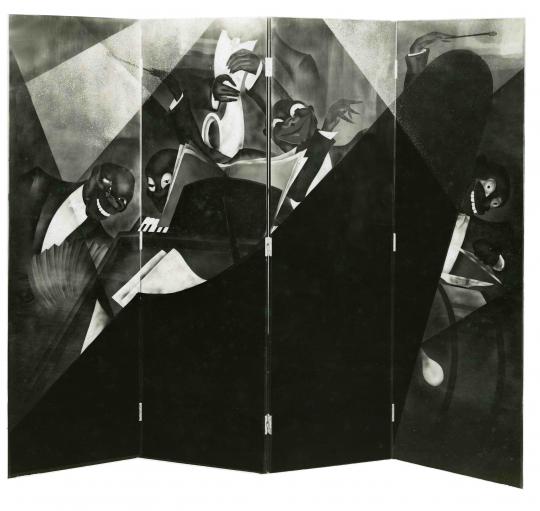 Gaston SUISSE (1896-1988) - Paravent Jazz, 1929.