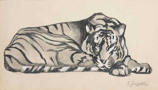 Gaston SUISSE (1896-1988) - Tigre couché, 1923.