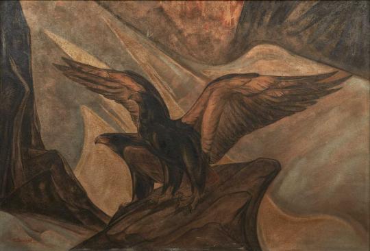 Gaston SUISSE (1896-1988) - Aigles bateleurs. Vers 1928.