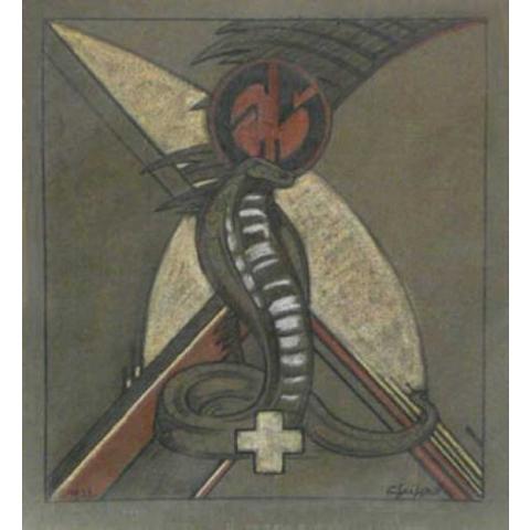 Cobra dressé. 1932.