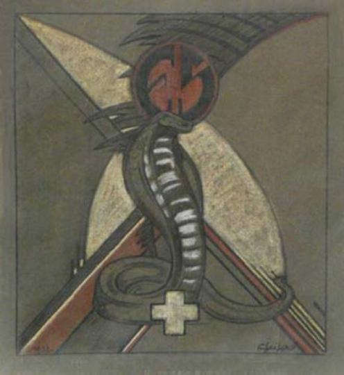 Gaston SUISSE (1896-1988) - Cobra dressé. 1932.
