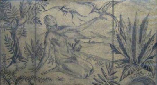 Gaston SUISSE (1896-1988) - Crayon et fusain sur papier. Vers 1925.