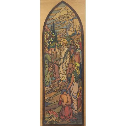 Jésus au mont des oliviers.