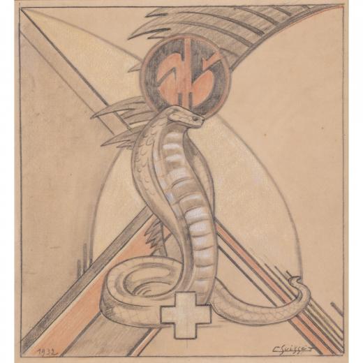 Auction by PIASA SVV du 20/06/2018 - Cobra. Projet Sandoz. 1932 (lot n°99)